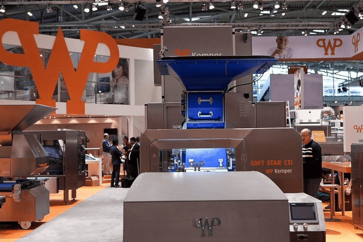 Exhibit stand RocketExpo iba Munich for Werner and Pfleiderer