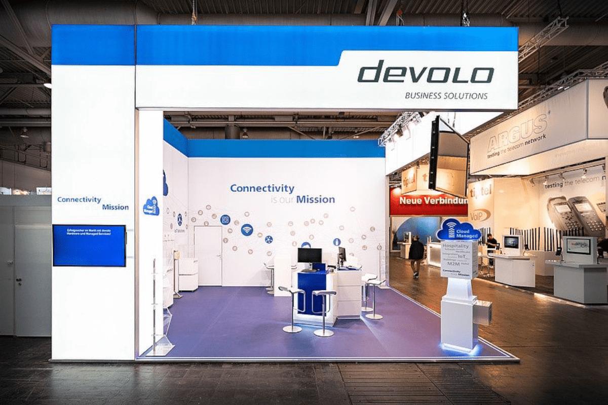Messedesign CeBIT Hannover für devolo
