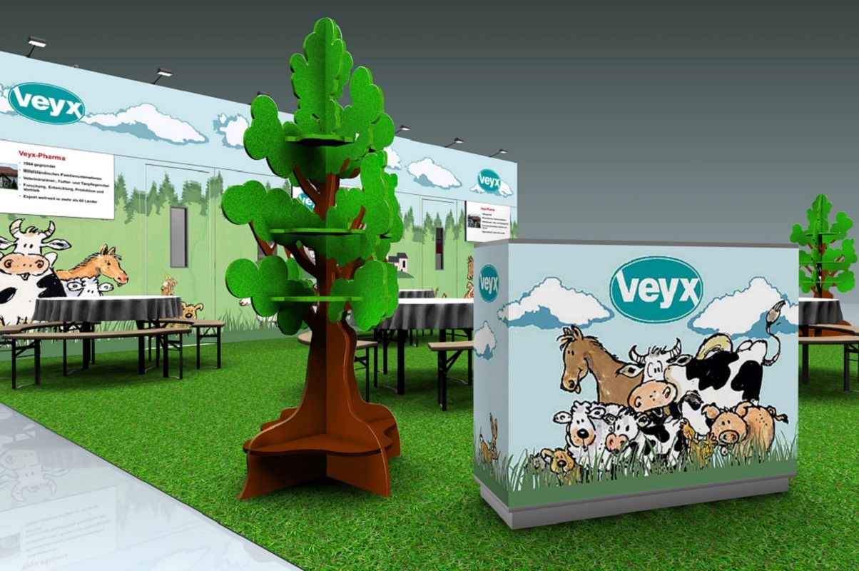 Exhibition stand Veyx at the Leipzig veterinary congress