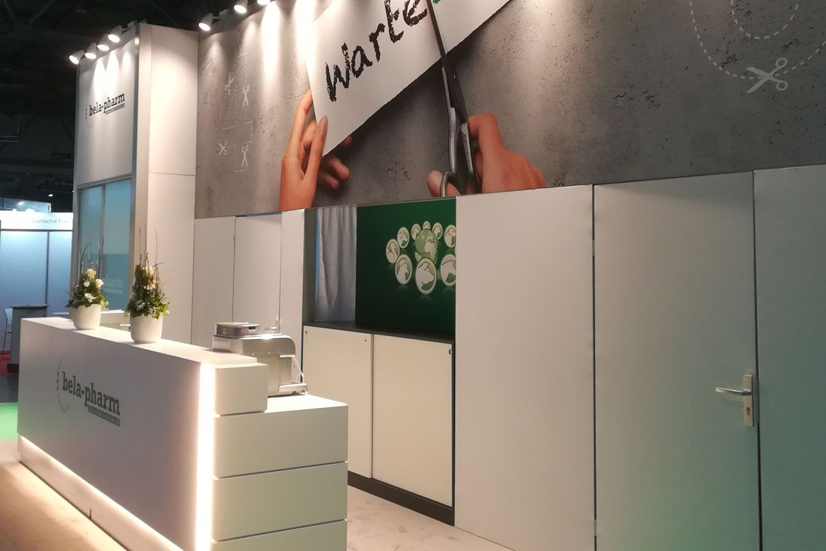 Exhibition stand bela-pharm - Counter area