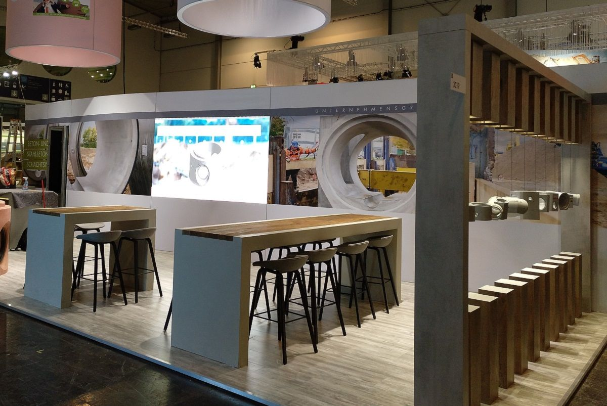 Messestand Betonwerk Bieren GmbH - LED-Wand