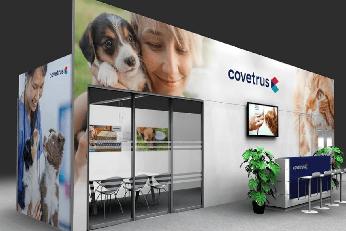 Covetrus Exhibition Stand Animal Motif
