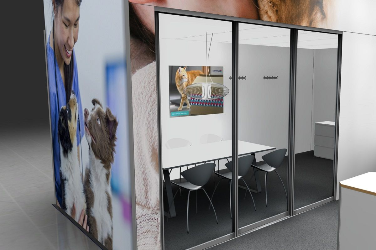Exhibition stand Covetrus meeting room