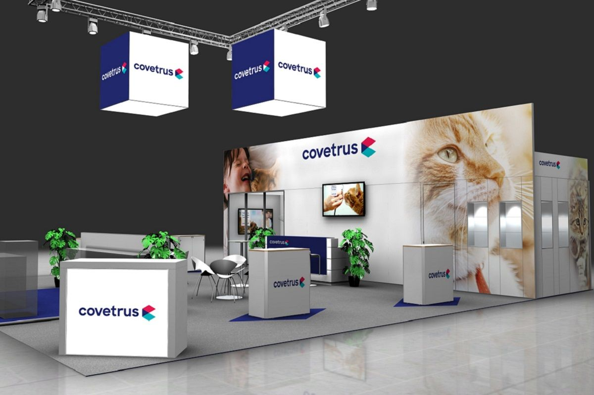 Covetrus stand side view