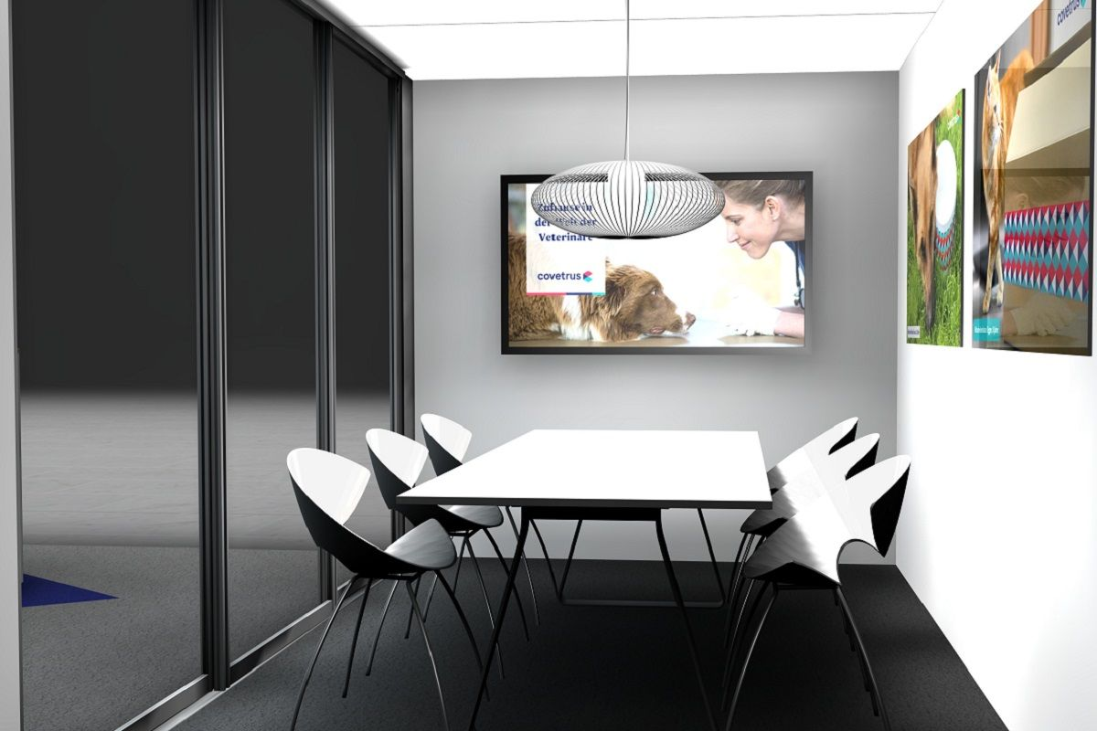 Exhibition meeting room inside for Covetrus