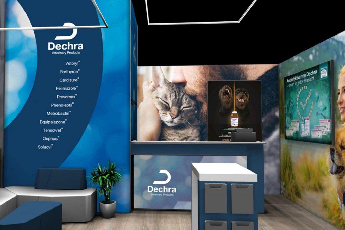 Exhibition stand Dechra interior
