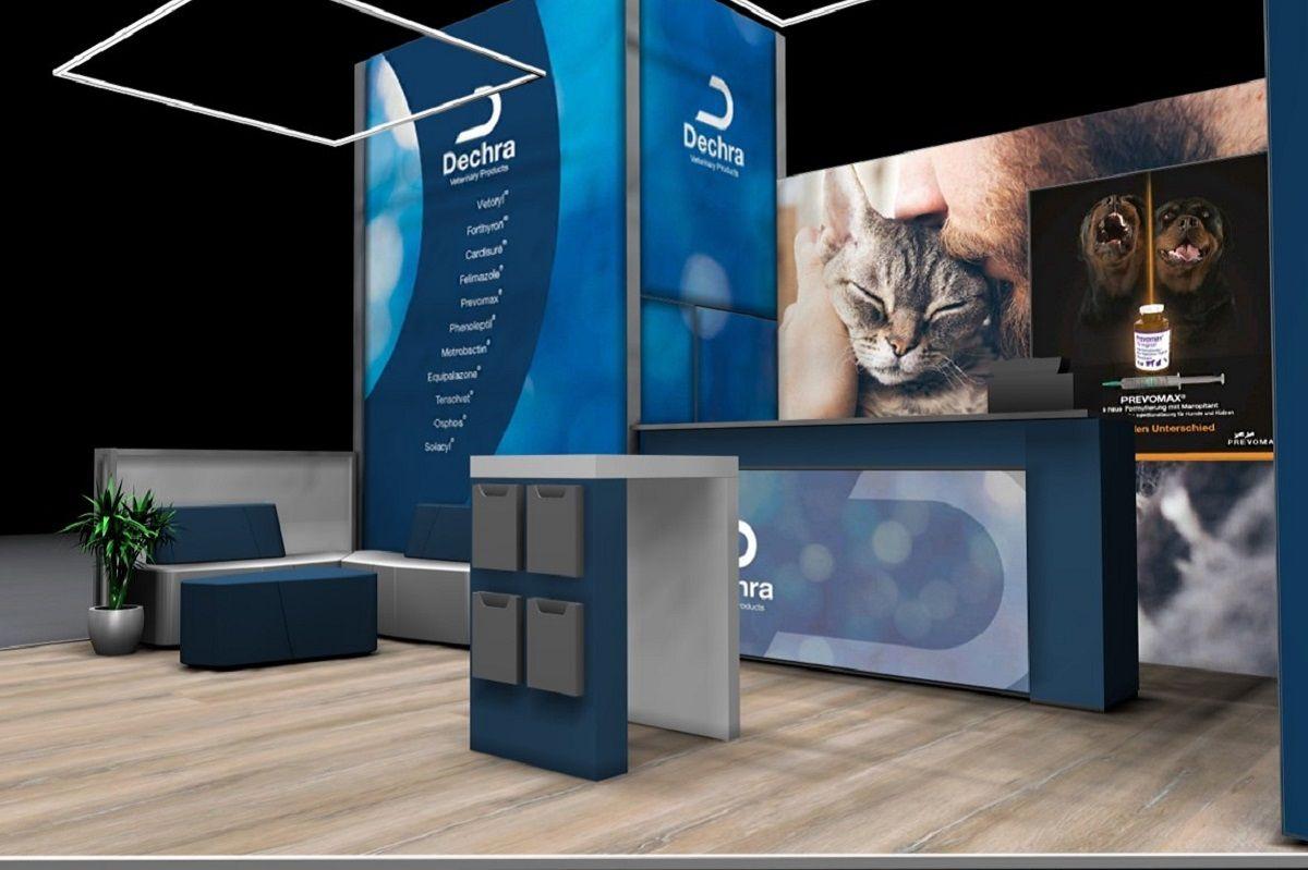 Exhibition stand Dechra interior view