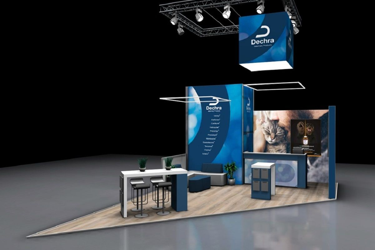 Dechra Exhibition stand - overview