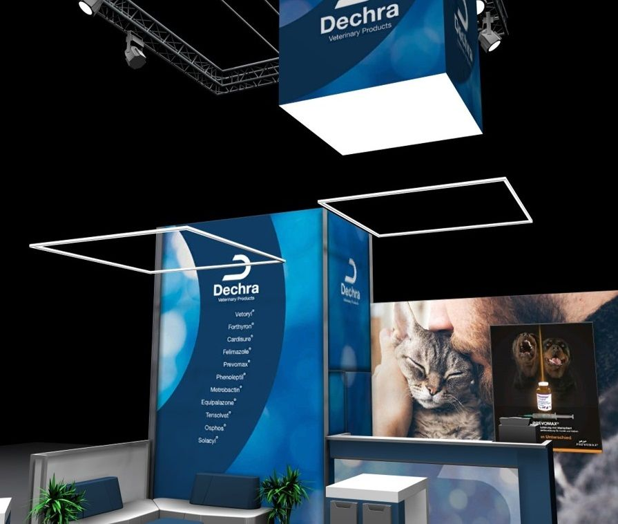 Dechra Long Distance effect of the exhibition stand