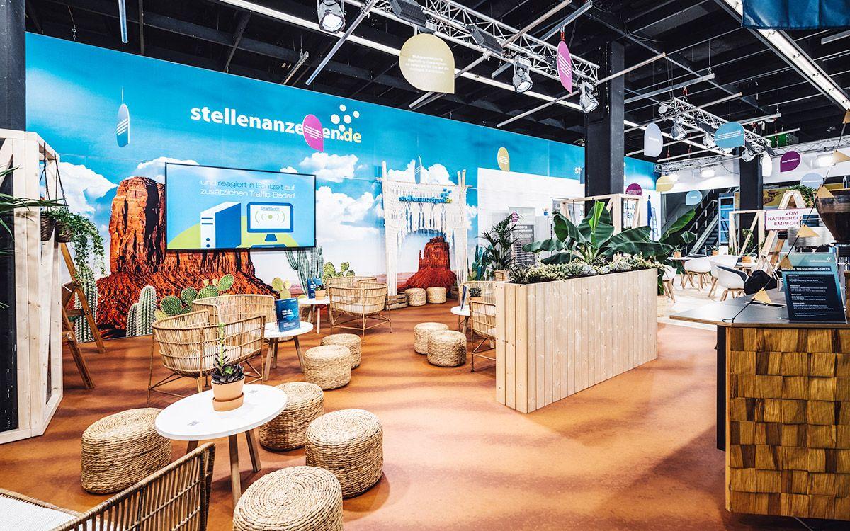 Individual exhibition stand for stellenanzeigen.de