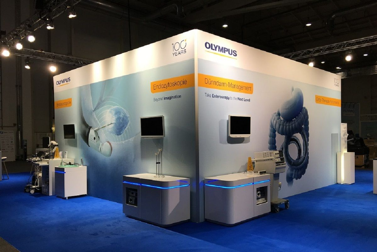 Olympus exhibition stand