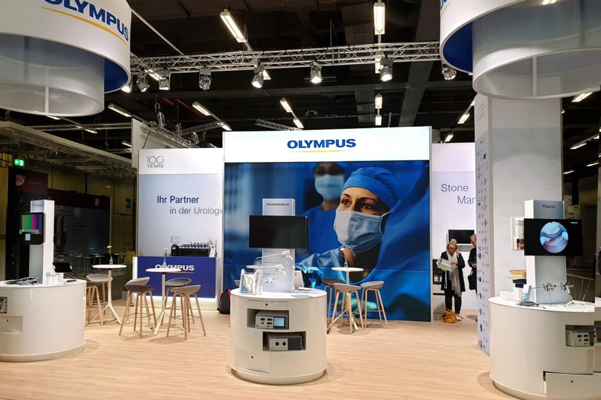Olympus exhibition stand at the dgu