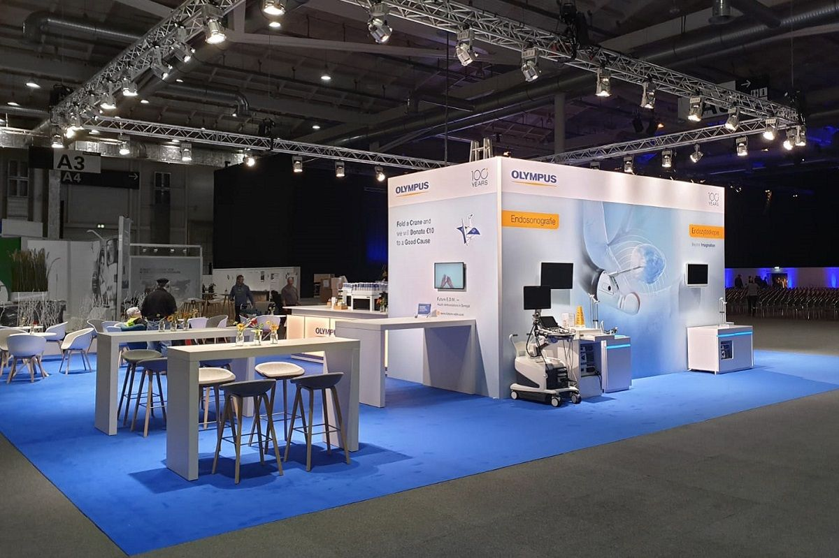 Olympus exhibition stand at the Endoclub