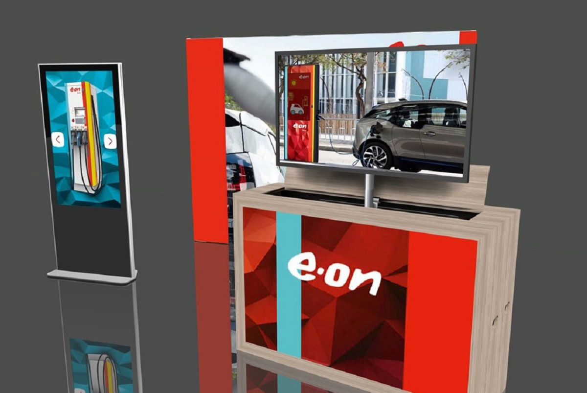 Rendering E.ON Mobile Exhibition Stand