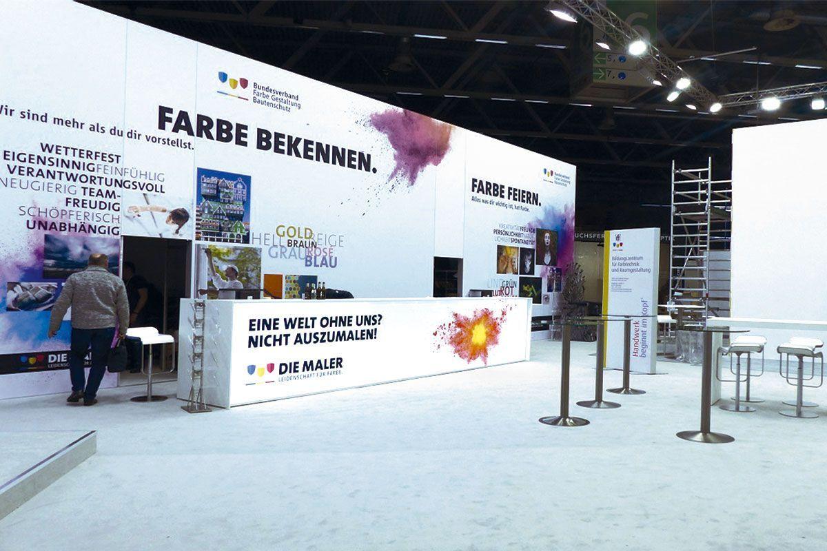 Individual trade fair construction for Bundesverband Farbe