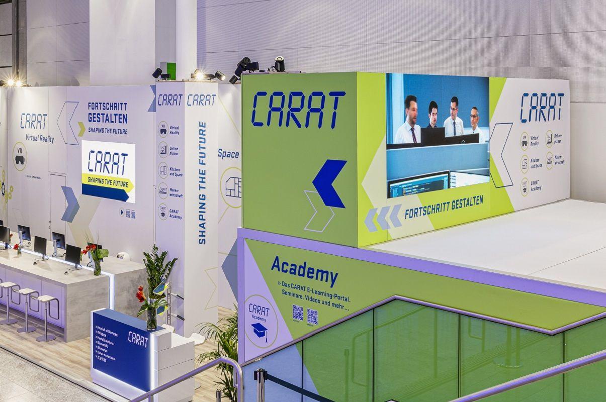 individual trade fair construction for Carat