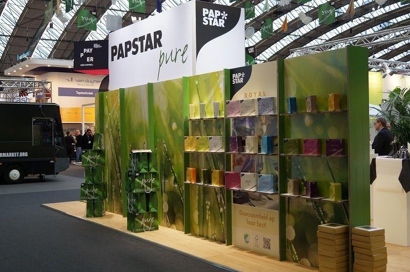 individual trade fair construction for papstar  at horecava in amsterdam