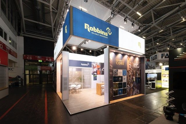 Robbins exhibition stand exterior view