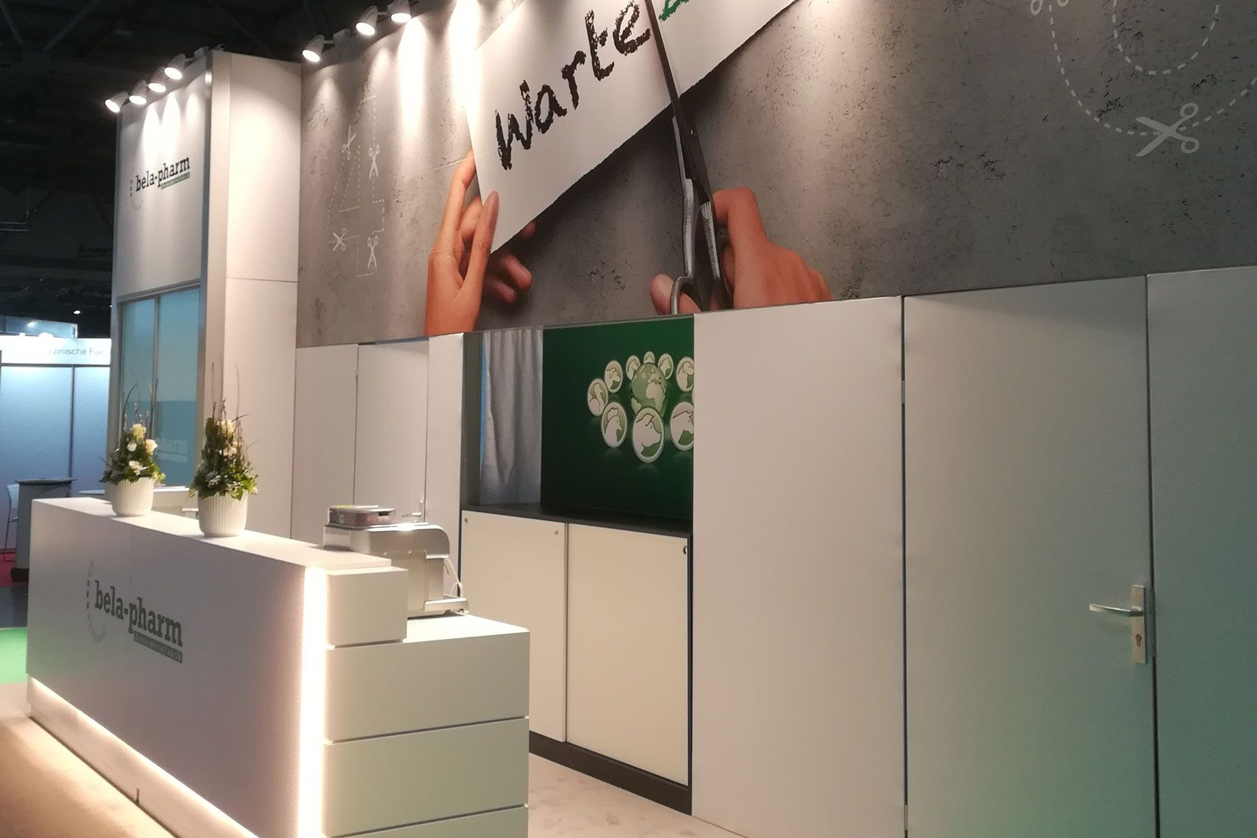 Exhibition stand bela-pharm counter area
