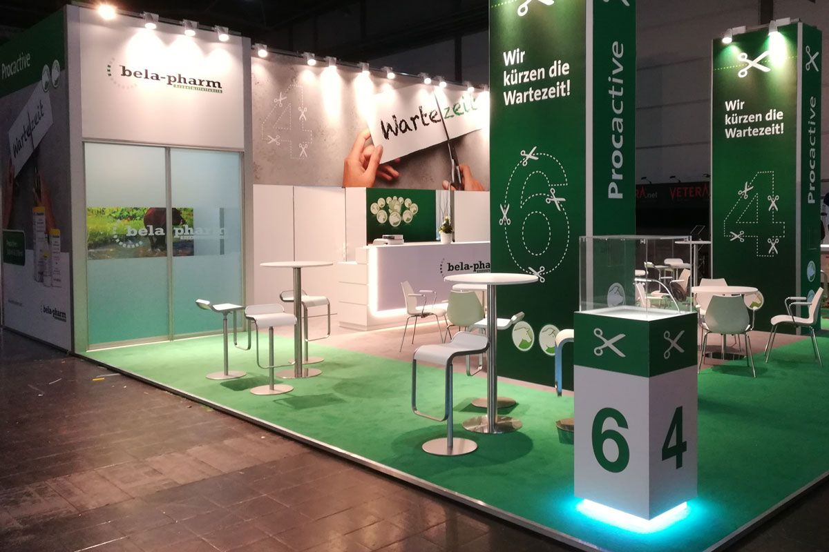 Exhibition stand bela-pharm at the veterinary congress in Leipzig