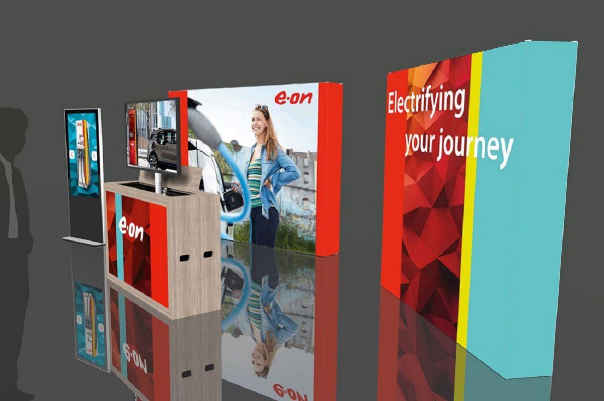 Rendering E.ON MessestandRendering E.ON trade fair stand