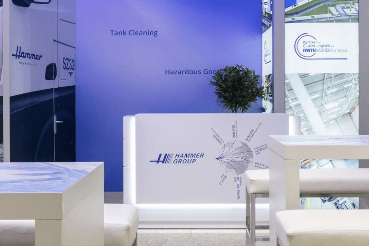 Trade fair design by Hammer at the Transport logistic in Munich