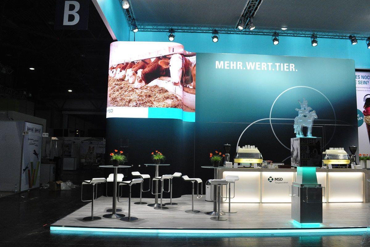 MSD LED trade fair video wall