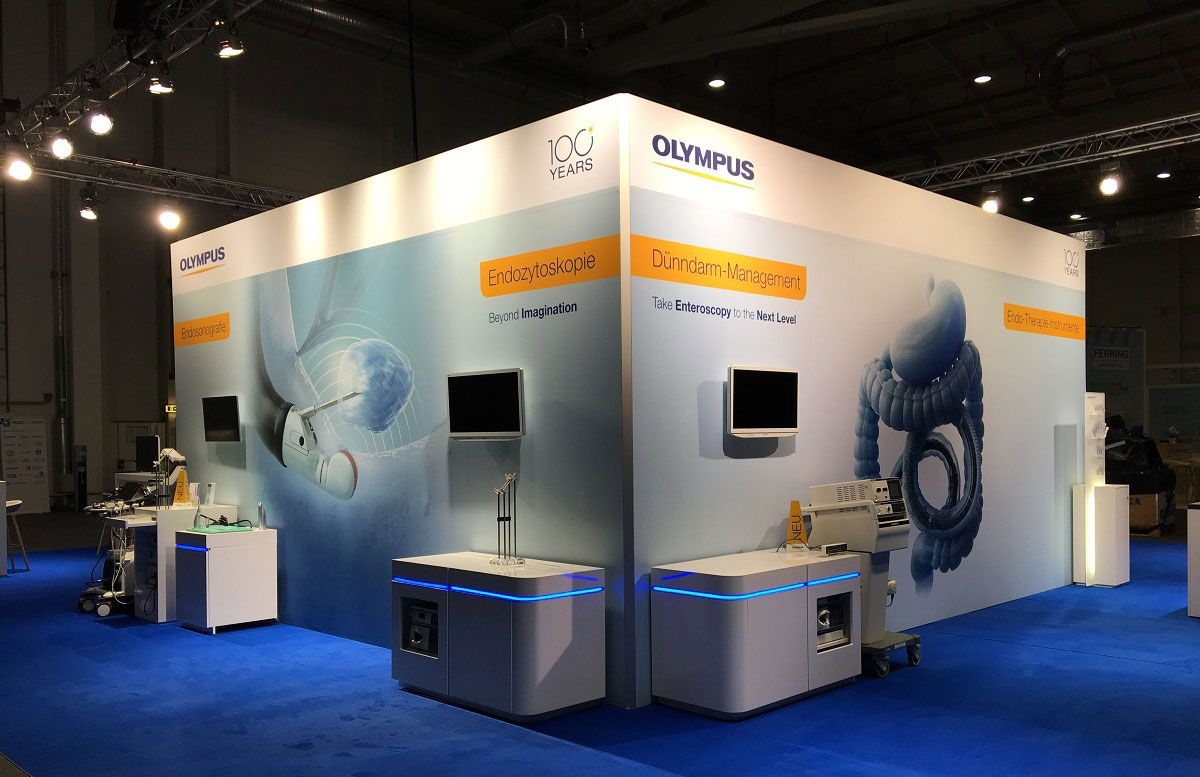 Messestand Olympus