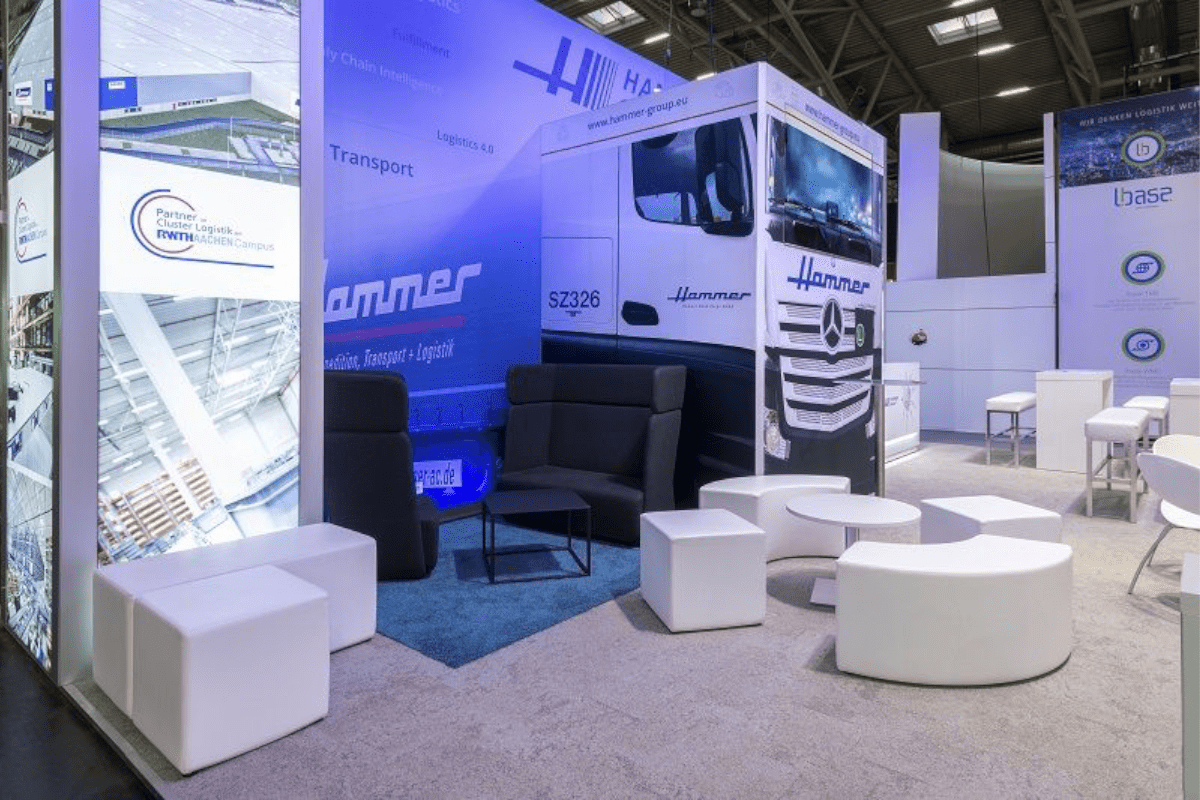 Hammer exhibition stand at the Transport logistic in Munich