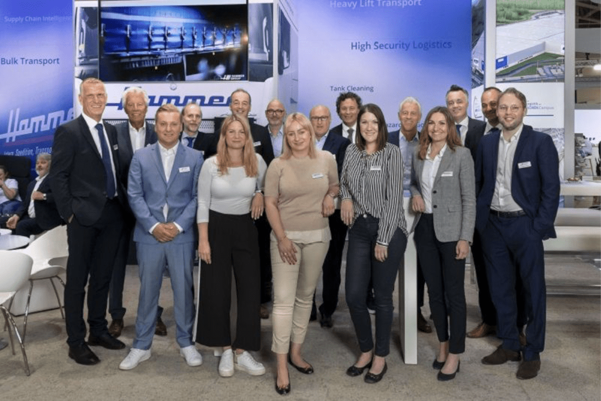 The Hammer exhibition stand team at the Transport logistic in Munich