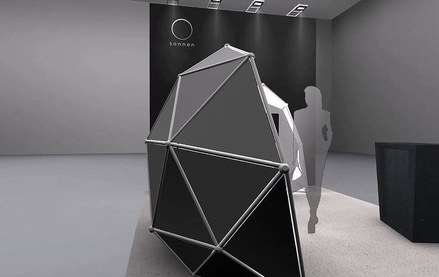 Exhibit stand design for Sonnen GmbH