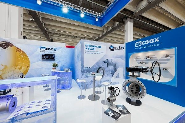 Exhibition design Achema Frankfurt for müller co ax