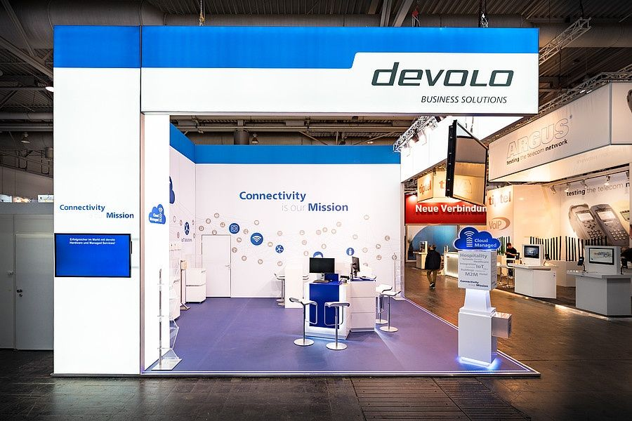 Stand design RocketExpo CeBIT Hannover for devolo