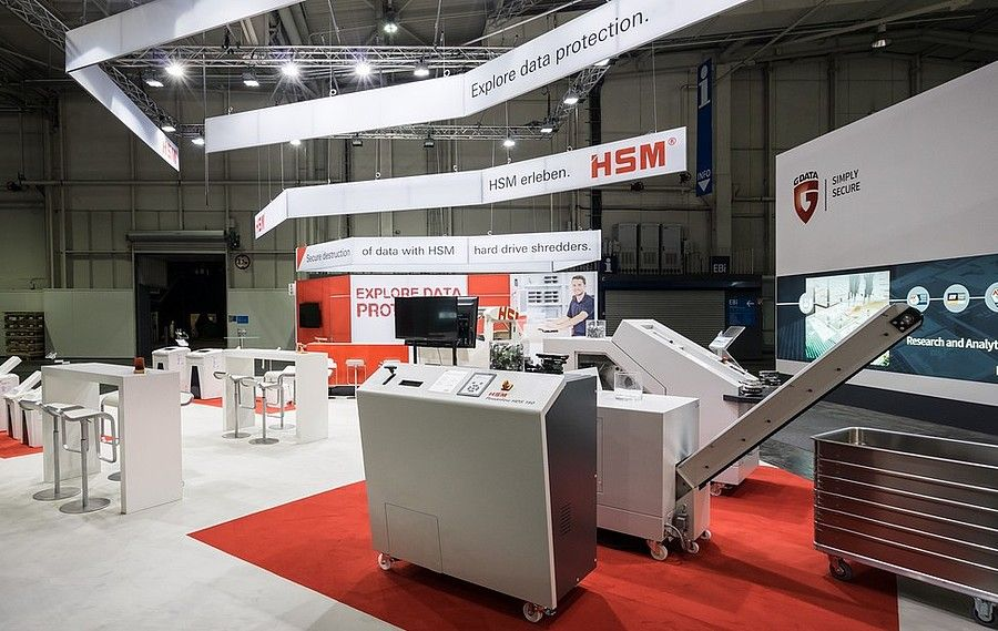 Messedesign CeBIT Hannover für HSM