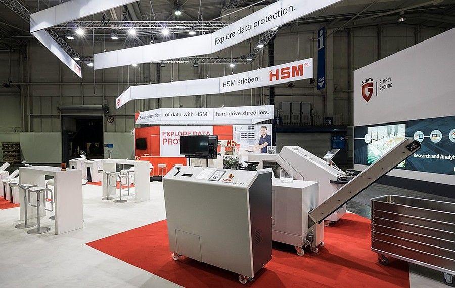 Messedesign CeBIT Hannover für HSM