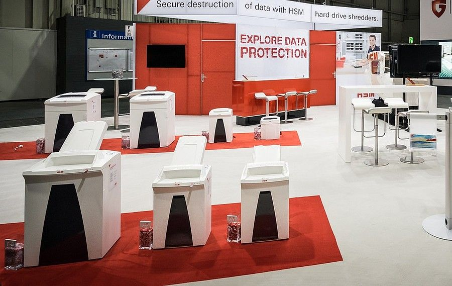 Booth concept RocketExpo CeBIT Hannover for HSM