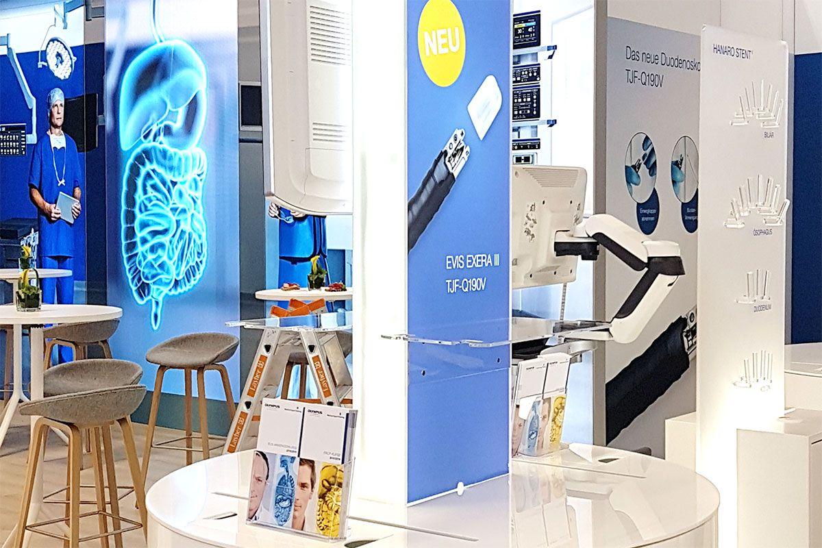 Exhibition concept Olympus Visceral Medicine Munich