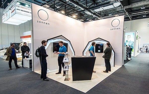 Exhibit stand for Sonnen GmbH in Germany