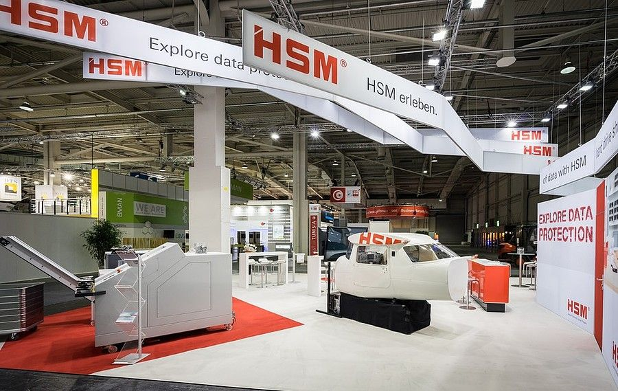 Booth construction RocketExpo CeBIT Hannover for HSM