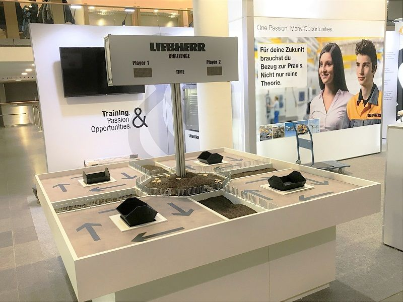 Liebherr exhibition stand with RocketExpo at the Bauma in Munich