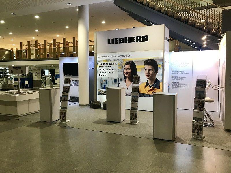 Messestandesign RocketExpo Liebherr Bauma München