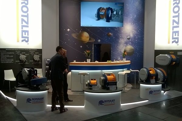 Exhibition design RocketExpo Bauma Munich for Rotzler