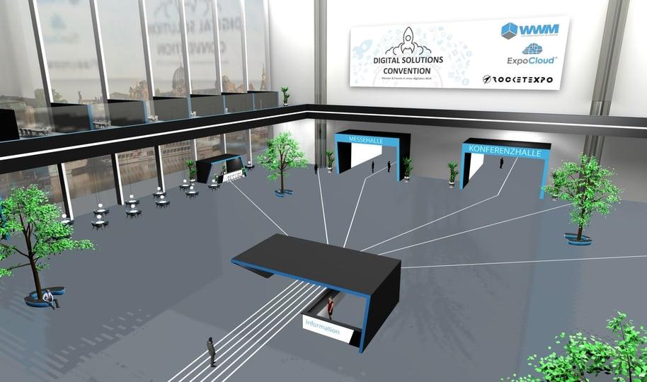 Empfangsbereich der Virtuellen Messe
