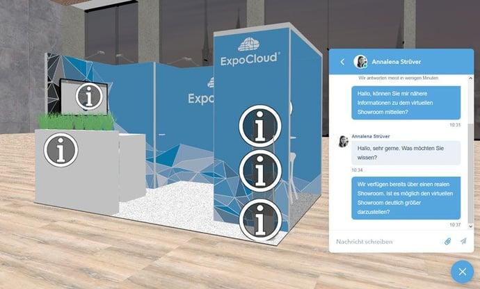Virtueller Showroom Chat
