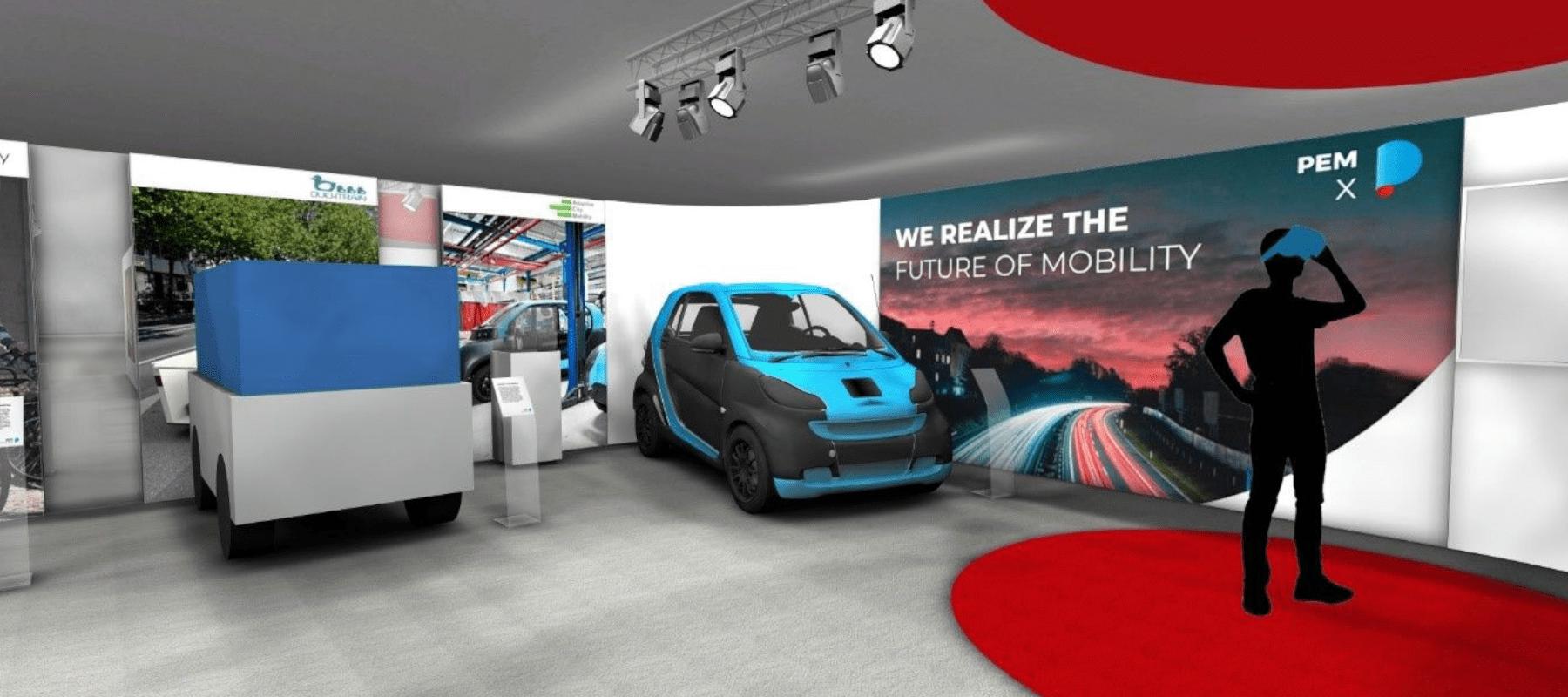 Virtueller Showroom PEM E-Auto