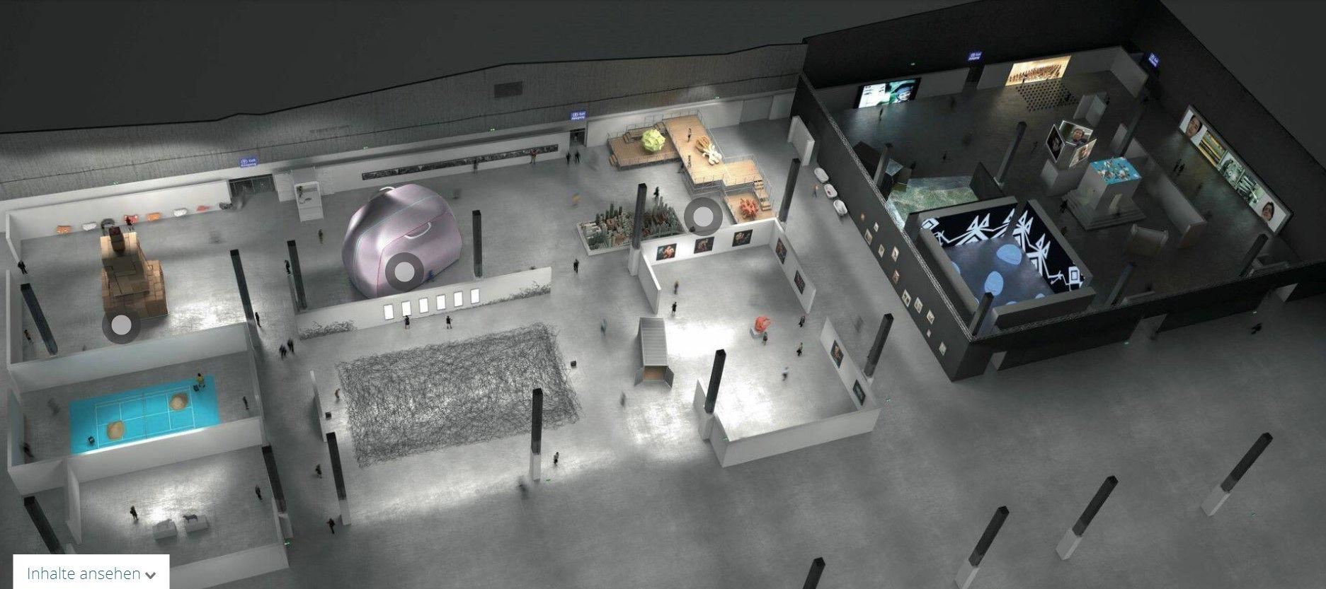 Messehalle einer Virtuellen Messe