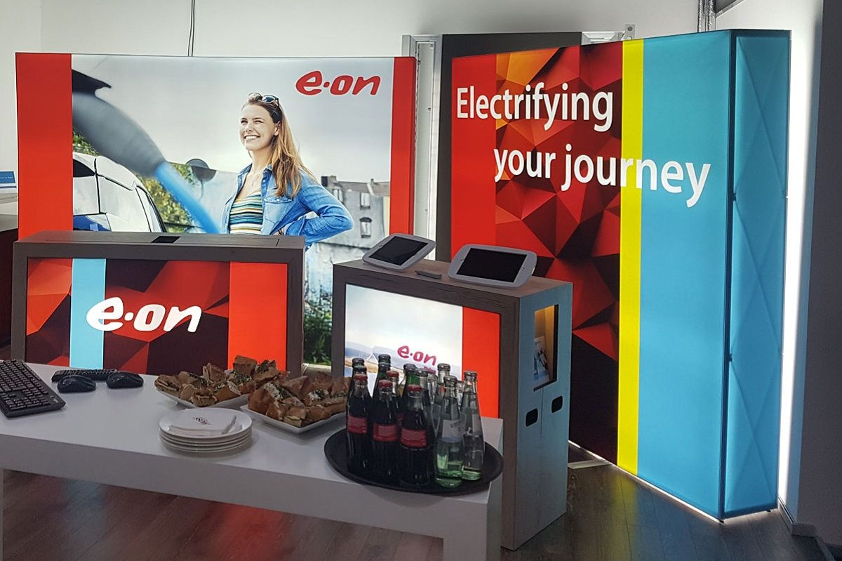 Mobile exhibition stand for E.ON