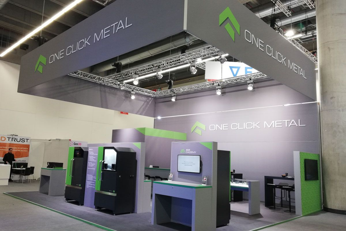 Messestand One Click Metal