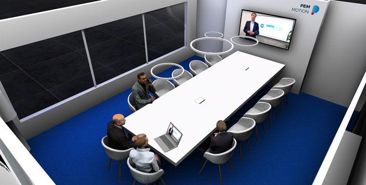 Moderner Meetingraum mit Multimedia Integration