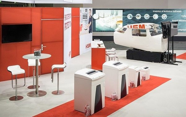 Booth construction RocketExpo CeBIT Hannover HSM